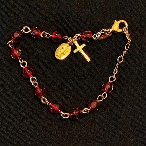 Vintage Avon   Garnet Rosary bracelet